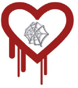 Heartbleed Logo with the web inside